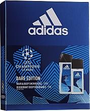 Parfumuri și produse cosmetice Adidas UEFA Dare Edition - Set (sh/gel/250ml + deo/75ml)
