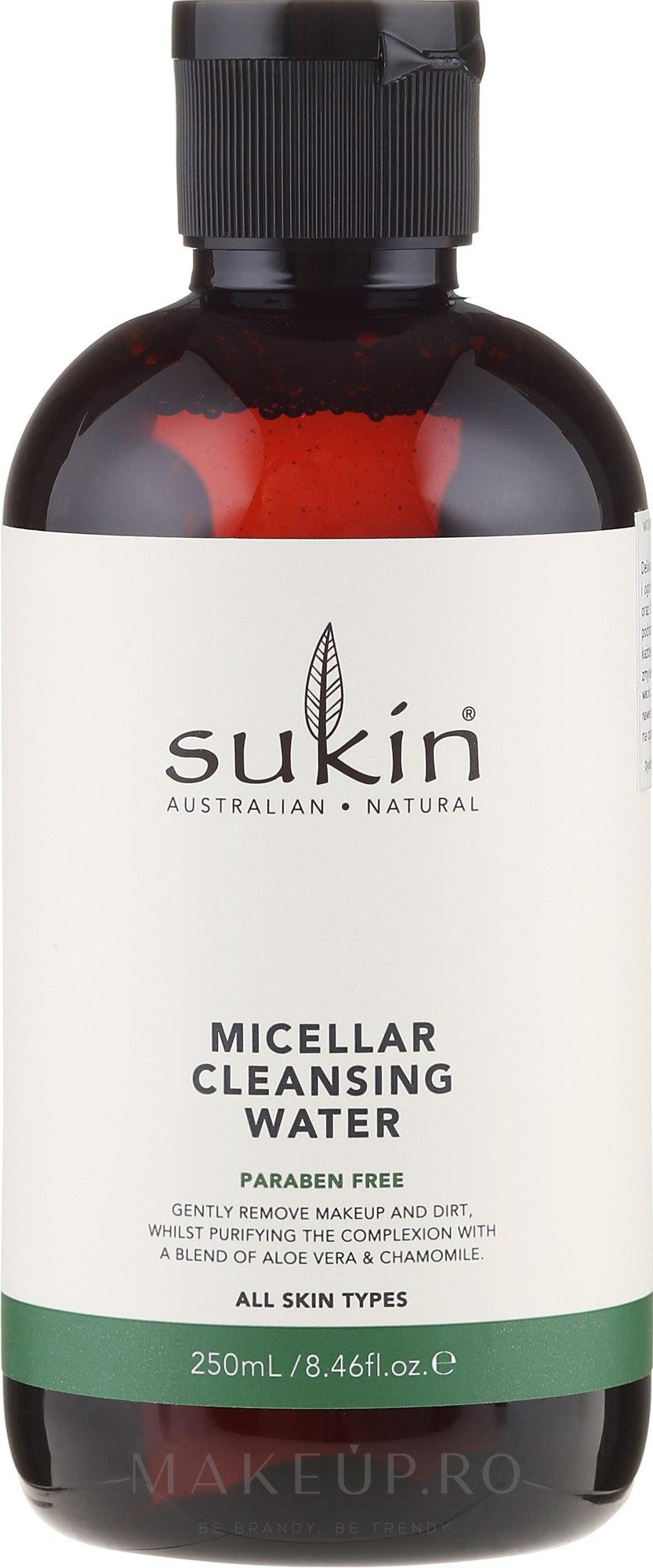 Apă micelară pentru față - Sukin Micellar Cleansing Water — Imagine 250 ml