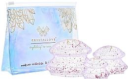 Parfumuri și produse cosmetice Bule de silicon pentru masaj corporal - Crystallove Crystal Body Cupping Set