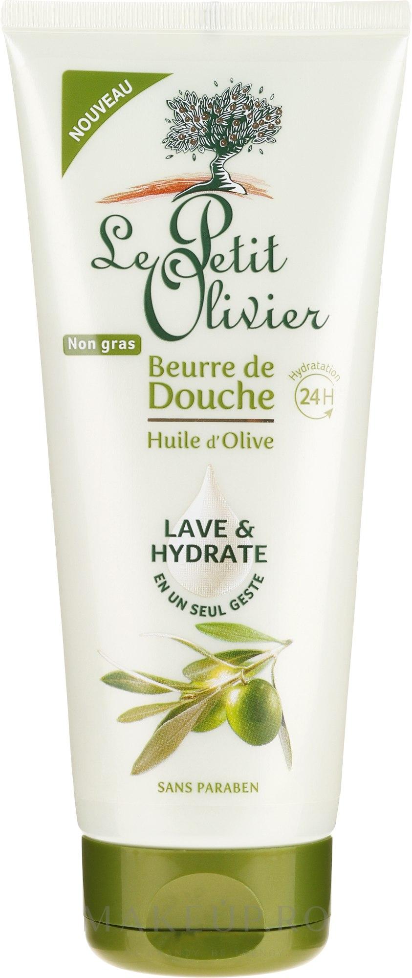 "Ulei de duș ""Ulei de măsline"" - Le Petit Olivier Shower Butter Olive Oil — Imagine 200 ml"