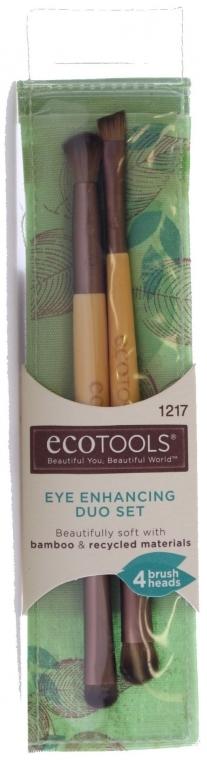 Set pensule de machiaj, 2 bucăți - EcoTools Eye Enhancing Eyeshadow Brush Duo — Imagine N1