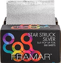 Parfumuri și produse cosmetice Folie elastică gofrată pentru coafori, 12,5 x 28 cm - Framar Star Struck Silver