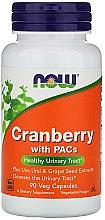 Parfumuri și produse cosmetice Afine cu Proantocianidine, 90 de capsule vegetale - Now Foods Cranberry With PACs
