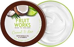 """Parfumuri și produse cosmetice Unt de corp """"Cocos și lime"""" - Grace Cole Fruit Works Body Butter Coconut & Lime"""