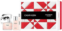 Parfumuri și produse cosmetice Calvin Klein Women - Set (edp/100ml + b/lot/100ml + edp/10ml)