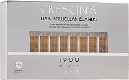 Parfumuri și produse cosmetice Loțiune pentru stimularea creșterii părului, pentru bărbați, 1900 - Crescina Hair Follicular Islands Re-Growth 1900