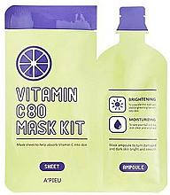 Parfumuri și produse cosmetice Mască cu Vitamina C pentru față - A'pieu Vitamin C80 Mask Kit