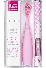 Parfumuri și produse cosmetice Periuță de dinți electrică cu rezervă - Foreo Issa 2 Sensitive Set Pearl Pink