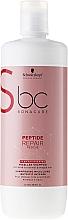 Șampon regenerant nutritiv - Schwarzkopf Professional BC Bonacure Peptide Repair Rescue Deep Nourishing Micellar Shampoo — Imagine N3