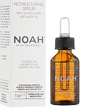 Parfumuri și produse cosmetice Ser cu ylang ylang și ulei de in pentru păr - Noah