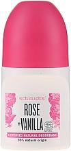 "Parfumuri și produse cosmetice Deodorant roll-on ""Trandafir și Vanilie"" - Schmidt's Rose + Vanille Deo Roll-On"
