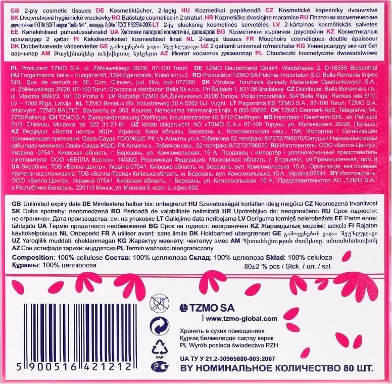 """Șervețele cosmetice 2 straturi """"EXTRA SOFT"""", 80 buc. - Bella — Imagine N2"""