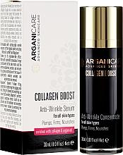 Parfumuri și produse cosmetice Ser antirid pentru față - Arganicare Collagen Boost Anti-Wrinkle Serum