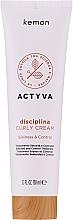 Parfumuri și produse cosmetice Cremă pentru păr ondulat - Kemon Actyva Disciplina Curly Cream