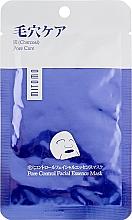 Parfumuri și produse cosmetice Mască cu extract de cărbune pentru față - Mitomo Premium Pore Control Facial Essence Mask