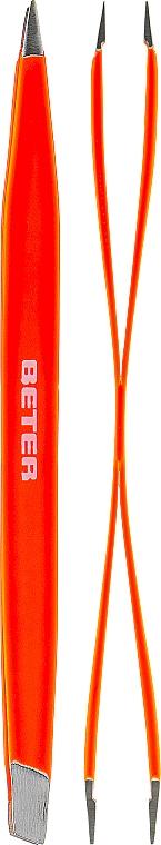 Pensetă dublă, profesională, portocalie - Beter Duply — Imagine N1
