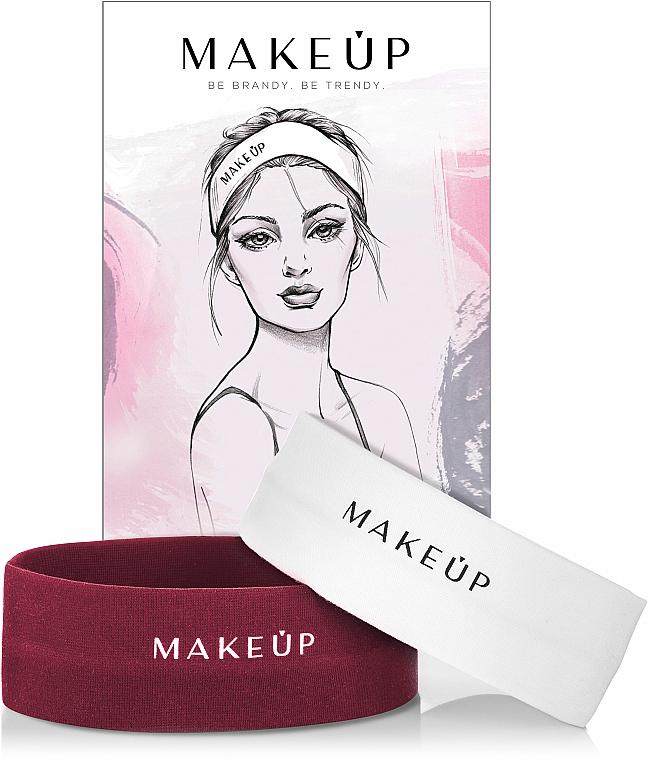 "Set ""Bandaje cosmetice"" - MakeUp Marsala & White"