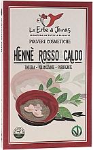 """Parfumuri și produse cosmetice Pudră decolorantă pentru păr """"Rosso Caldo"""" - Le Erbe di Janas Red Henna Hot Shades"""