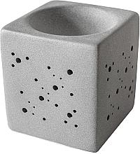 Parfumuri și produse cosmetice Lampă aromaterapie, pătrată, gri - Flagolie By Paese Cube Fireplace Grey