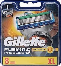 Parfumuri și produse cosmetice Casete de rezervă pentru aparat de ras, 8 buc. - Gillette Fusion ProGlide Power
