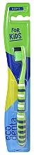 Parfumuri și produse cosmetice Periuță de dinți pentru copii, moale, verde - Ecodenta Soft Toothbrush For Children