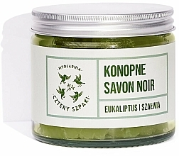 """Parfumuri și produse cosmetice Săpun natural """"Cânepă - Cztery Szpaki Savon Noir Soap"""