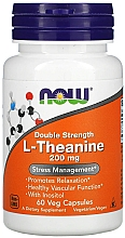 "Parfumuri și produse cosmetice Supliment alimentar ""L-teanină"", ​​200 mg - Now Foods L-Theanine Double Strength Veg Capsules"