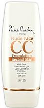Parfumuri și produse cosmetice CC cremă - Pierre Cardin Nude Face CC Foundation Second Skin SPF 15
