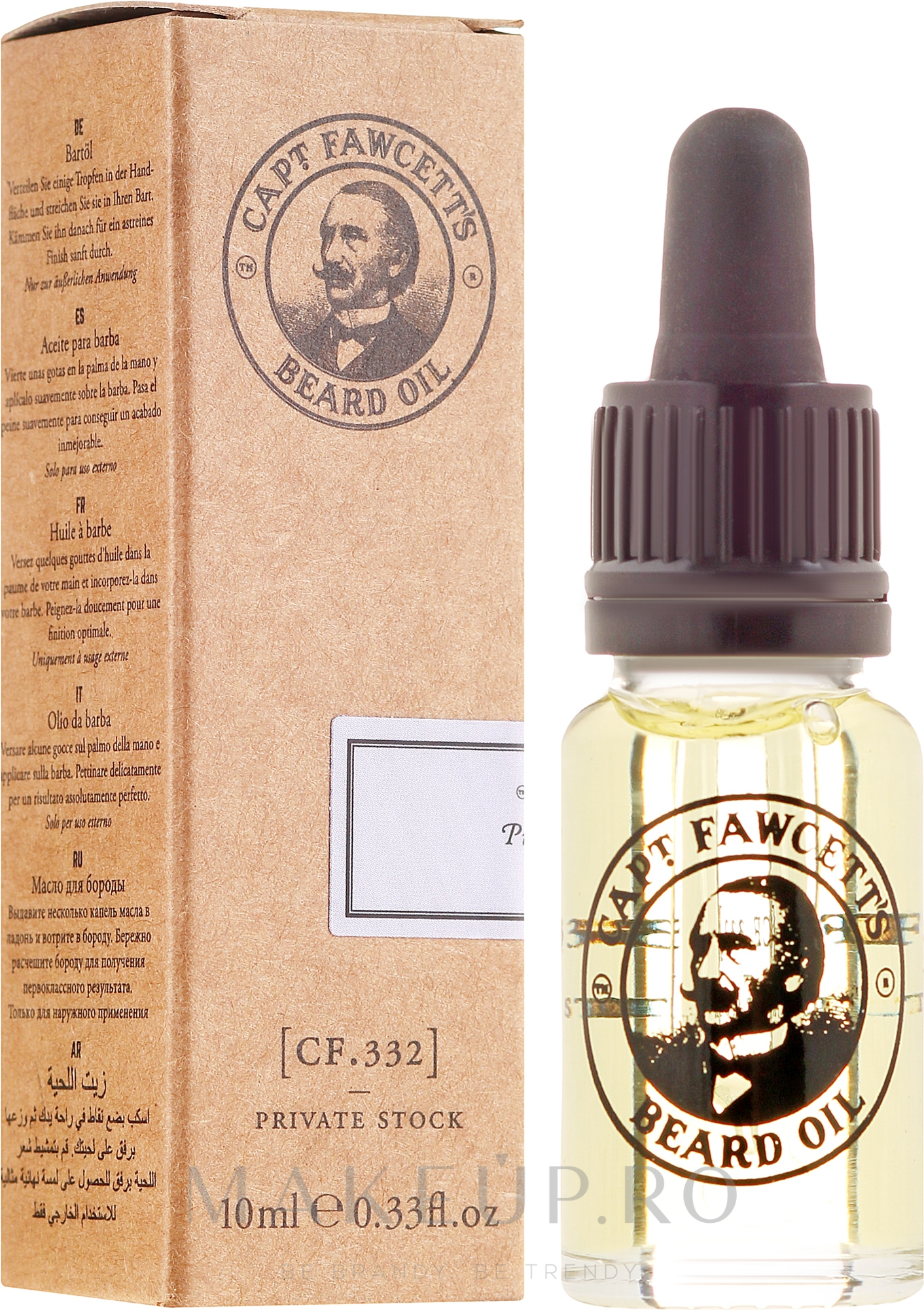 Ulei pentru barbă - Captain Fawcett Beard Oil — Imagine 10 ml