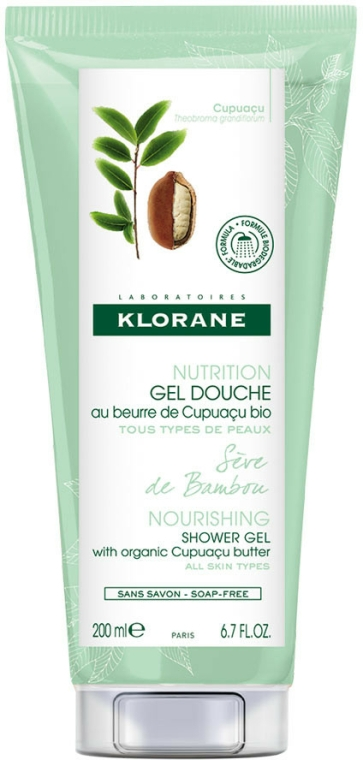 Gel de duș - Klorane Cupuacu Bamboo Sap Nourishing Shower Gel — Imagine N1