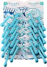 Parfumuri și produse cosmetice Blister cu aparate de ras de unică folosință - Gillette Simly Venus 2 Satin Care