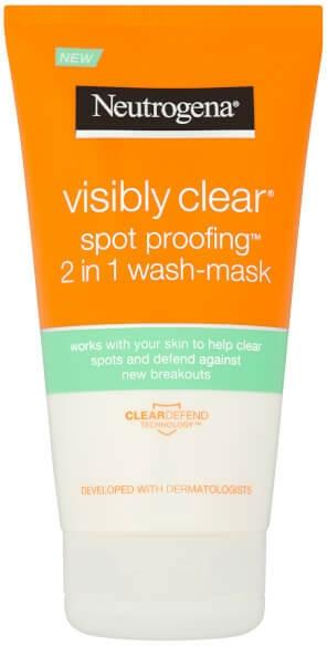 Mască de față - Neutrogena Visibly Clear Spot Proofing 2-in-1 Wash-Mask | — Imagine N1
