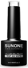 Parfumuri și produse cosmetice Top coat pentru gel-lac, fără strat lipicios - Sunone UV/LED Gel Polish Top No Wipe