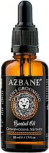 """Parfumuri și produse cosmetice Ulei pentru barbă """"Cedru și nucșoară"""" - Azbane Bean Oil With Cedarwood And Nutmeg Oil"""