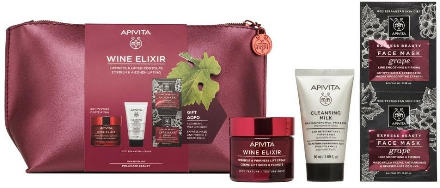 Set - Apivita Wine Elixir Rich Texture (cream/50ml + milk/50ml + mask/2x8ml) — Imagine N2