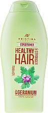 "Parfumuri și produse cosmetice Balsam de păr ""Geranium"" - Hristina Cosmetics Healthy Hair Conditioner"