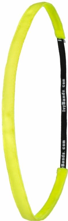 Bandă pentru cap, galben neon - Ivybands Neon Yellow Super Thin Hair Band — Imagine N1
