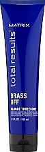 Parfumuri și produse cosmetice Cremă de protecție pentru păr decolorat - Matrix Total Results Brass Off Blonde Threesome