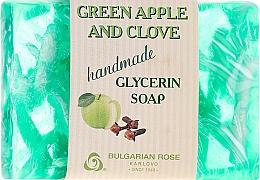 """Parfumuri și produse cosmetice Săpun de glicerină """"Măr verde și garoafe"""" - Bulgarian Rose Green Apple & Clove Soap"""