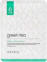 Parfumuri și produse cosmetice Mască de față - It's Skin Green Tea Watery Mask Sheet
