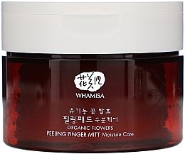 Parfumuri și produse cosmetice Discuri pentru curățarea feței - Whamisa Organic Flowers Peeling Finger Mitt Moisture Care