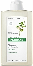 Parfumuri și produse cosmetice Șampon cu migdale pentru volumul părului subțire - Klorane Volumising Shampoo with Almond Milk