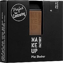 Parfumuri și produse cosmetice Fard matifiant de obraz - Make Up Factory Mat Blusher