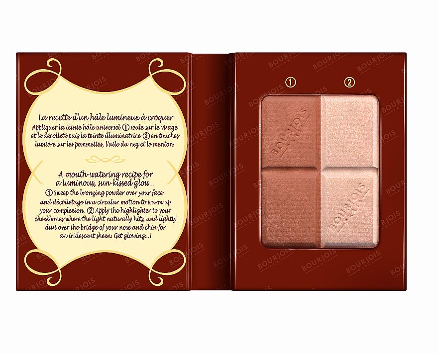 Pudră compactă pentru față - Bourjois Delice De Poudre Bronzing Duo Powder + Highlighter — Imagine N3