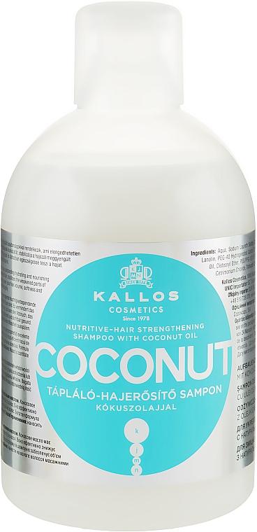 Șampon regenerant cu ulei de cocos - Kallos Cosmetics Coconut Shampoo