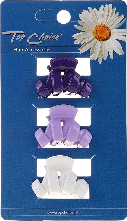 Clește pentru păr, 24122, albă, mov, albastră - Top Choice — Imagine N1