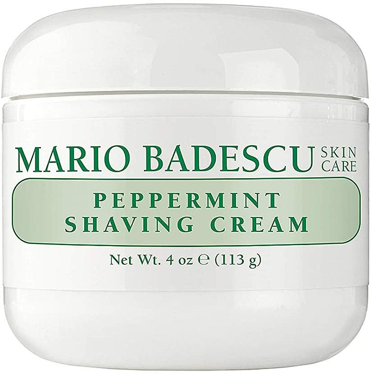Cremă de ras, cu extract de mentă - Mario Badescu Peppermint Shaving Cream — Imagine N3