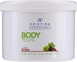 "Parfumuri și produse cosmetice Peeling pentru corp ""Struguri"" - Hristina Professional 100% Natural Grape Body Peeling"