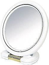 Parfumuri și produse cosmetice Oglindă cosmetică, rotundă, cu suport, albă, 18.5 cm - Donegal Mirror