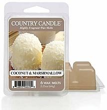 Parfumuri și produse cosmetice Ceară pentru lampă aromatică - Country Candle Coconut Marshmallow Wax Melts